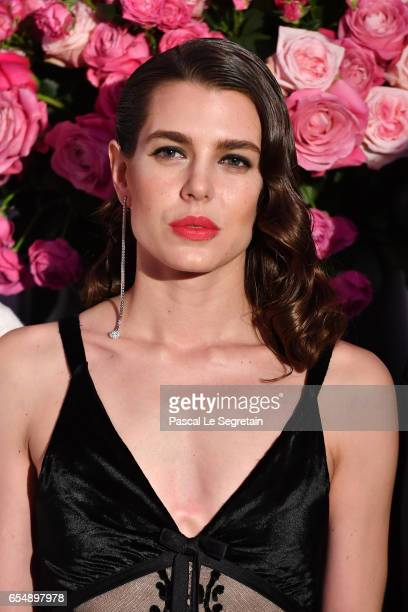 Charlotte Casiraghi attends the Rose Ball 2017 To Benefit The Princess Grace Foundation at Sporting MonteCarlo on March 18 2017 in MonteCarlo Monaco