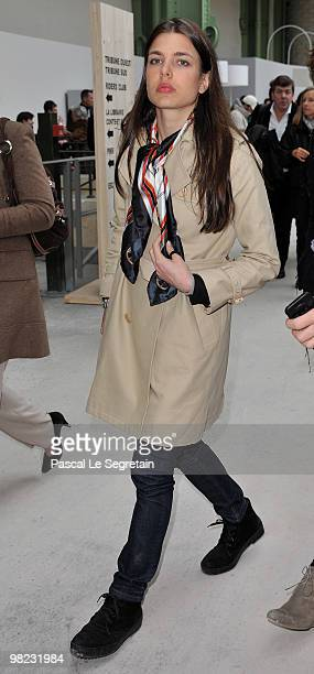 Charlotte Casiraghi attends the 'Saut Hermes' at Grand Palais on April 3 2010 in Paris France