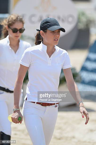 Charlotte Casiraghi attends the Special Invitational race during the International MonteCarlo Jumping at Port Hercule on June 27 2014 in Monaco Monaco