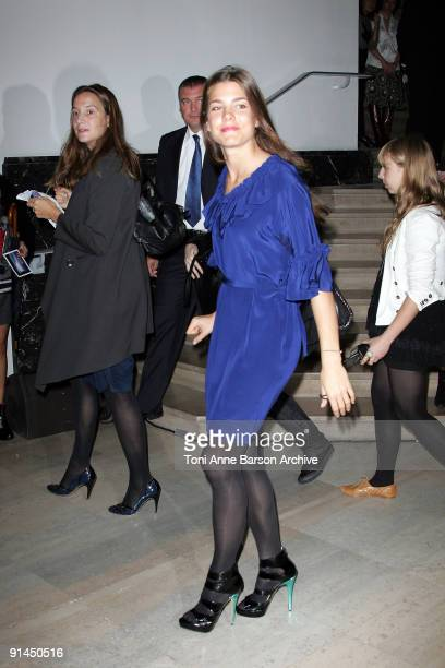 Charlotte Casiraghi attends the Stella McCartney Pret a Porter show as part of the Paris Womenswear Fashion Week Spring/Summer 2010 at Palais De...