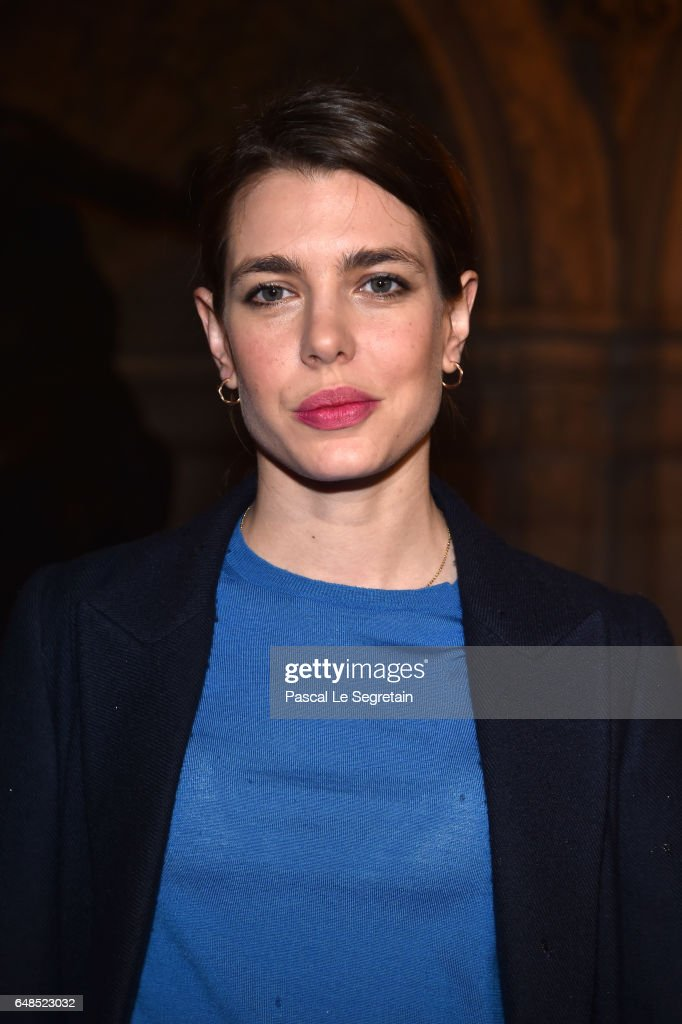 Charlotte Casiraghi attends the Stella McCartney show as part of the Paris Fashion Week Womenswear Fall/Winter 2017/2018 on March 6, 2017 in Paris, France.