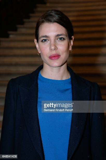 Charlotte Casiraghi attends the Stella McCartney show as part of the Paris Fashion Week Womenswear Fall/Winter 2017/2018 on March 6 2017 in Paris...