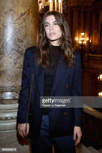 Charlotte Casiraghi attends the Stella McCartney show as part of the Paris Fashion Week Womenswear Spring/Summer 2018 on October 2 2017 in Paris...