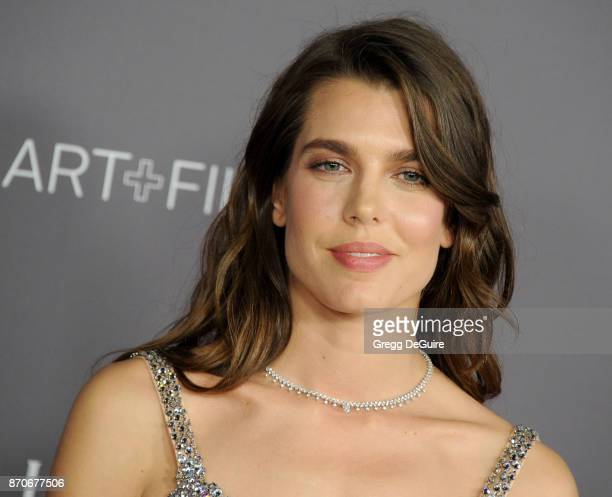 Charlotte Casiraghi daughter of Princess Caroline of Monaco and Stefano Casiraghi arrives at the 2017 LACMA Art Film Gala honoring Mark Bradford and...