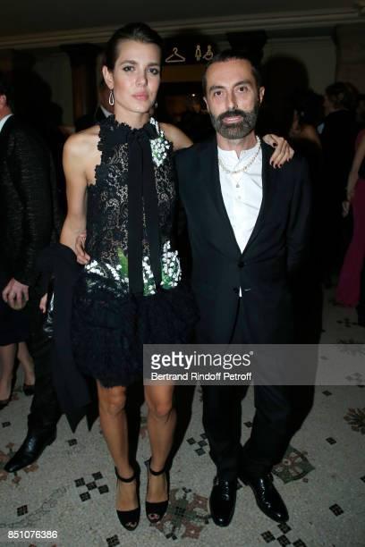 Charlotte Casiraghi dressed in Giambattista Valli and Stylist Giambattista Valli attend the Opening Season Gala Ballet of Opera National de Paris...