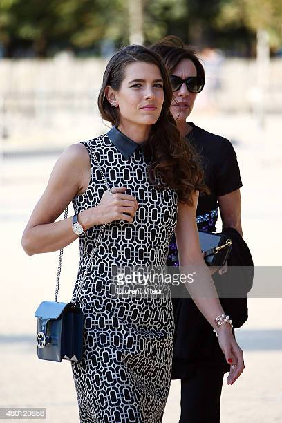Charlotte Casiraghi is seen in Le Jardin des Tuileries on July 9 2015 in Paris France