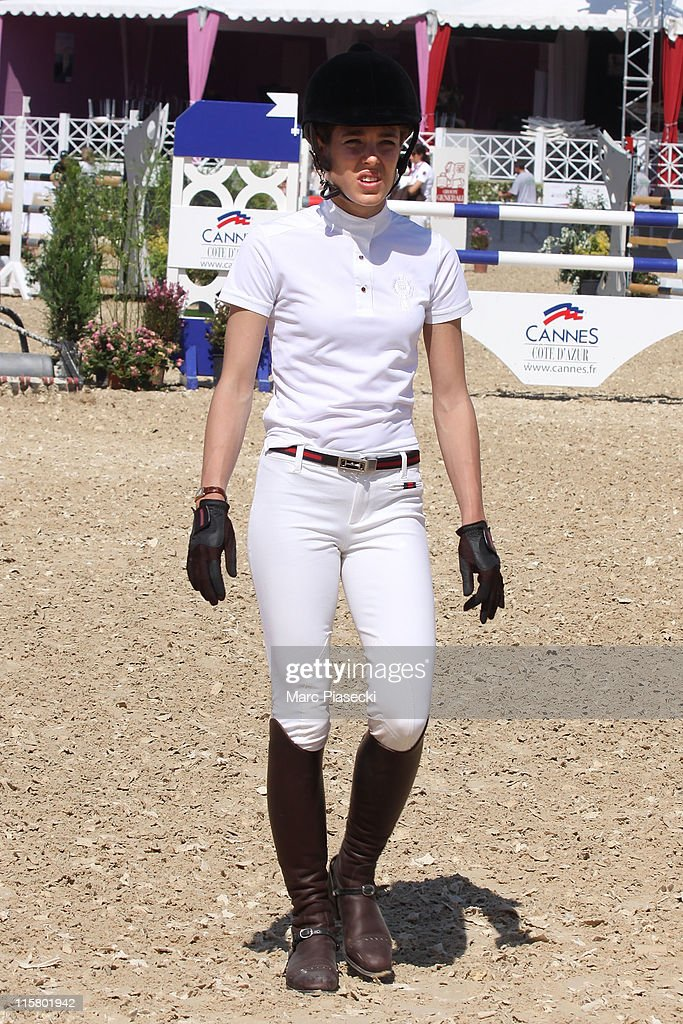 Charlotte Casiraghi is sighted during the '30th International Cannes Jumping' Global Champion Tour 2011 on June 10 2011 in Cannes France