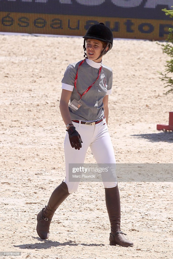 Charlotte Casiraghi is spotted during the '30th International Cannes Jumping' Global Champion Tour 2011 on June 9 2011 in Cannes France