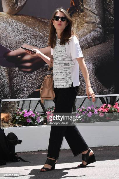 Charlotte Casiraghi is spotted during the 70th annual Cannes Film Festival at on May 21 2017 in Cannes France