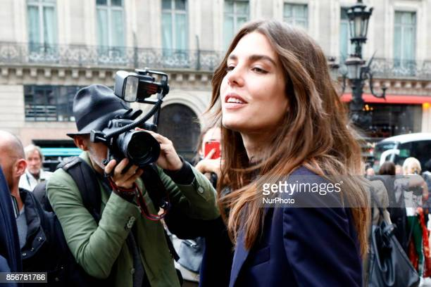 Charlotte Casiraghi leaves the Stella Mccartney fashion show in Paris France on October 2 2017