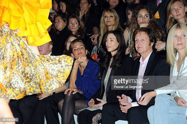Charlotte Casiraghi Nancy Shevell Paul McCartney and Gwyneth Paltrow attend the Stella McCartney Pret a Porter show as part of the Paris Womenswear...