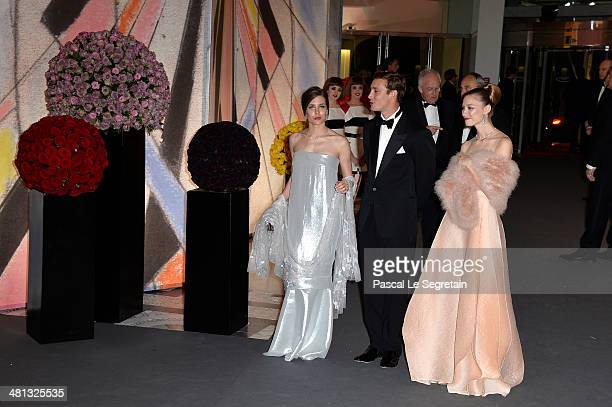 Charlotte Casiraghi Pierre Casiraghi and Beatrice Borromeo attend the Rose Ball 2014 in aid of the Princess Grace Foundation at Sporting MonteCarlo...
