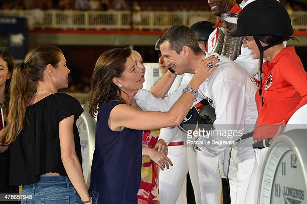 Charlotte Casiraghi Princess Caroline of Hanover Guillaume Canet and Jessica Springsteen attend the award ceremony of the Longines ProAm Cup Monaco...