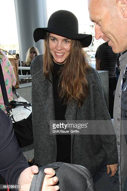Charlotte Casiraghi seen at LAX on February 23 2015 in Los Angeles California