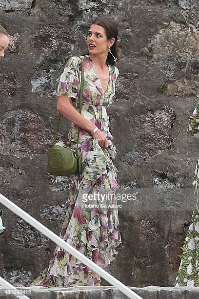 Charlotte Casiraghi sighting during Pierre Casiraghi and Beatrice Borromeo Wedding on August 1 2015 in Isola Grande Stresa Italy
