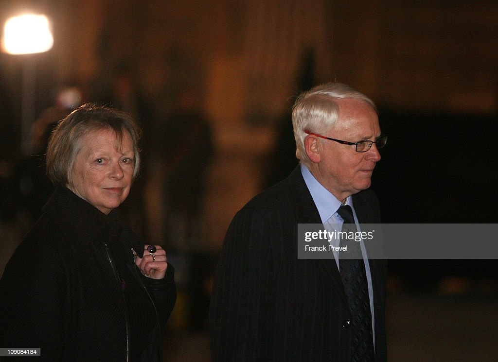Charlotte Cassez her husband Bernard leave after a meeting with France's President Nicolas Sarkozy at Elysee Palace on February 14 2011 in Paris...