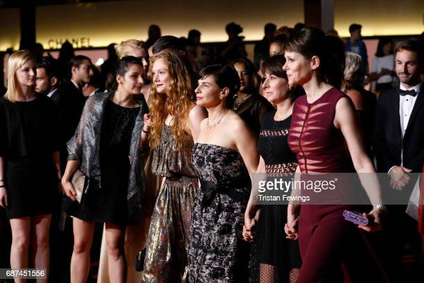 Charlotte Cetaire director Annarita Zambrano Maryline Canto and Barbora Bobulova of 'Apres La Guerre' attend the 'Hikari ' screening during the 70th...