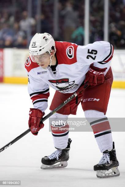 Charlotte Checkers RW Valentin Zykov during the third period of the AHL hockey game between the Charlotte Checkers and Cleveland Monsters on March 30...