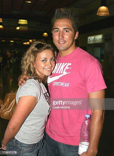 Charlotte Church and Gavin Henson during Charlotte Church and Gavin Henson Sighting at Ibiza Airport August 7 2005 at Ibiza Airport in Ibiza Spain