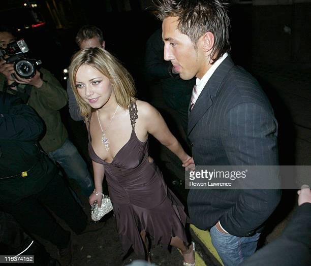 Charlotte Church and Gavin Henson during Charlotte Church at China White in London April 27 2005 at China White in London Great Britain