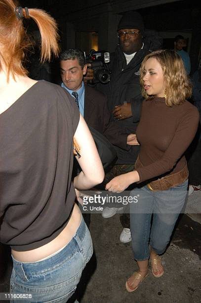 Charlotte Church and guests during Charlotte Church Sighting in London April 20 2005 at Funky Buddha Club in London Great Britain