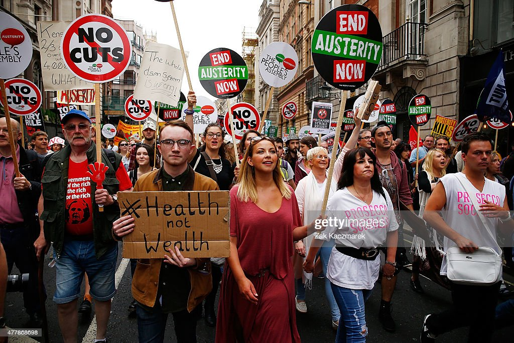 Charlotte Church attends an Anti Austerity demonstration at Bank Of England on June 20, 2015 in London, England.