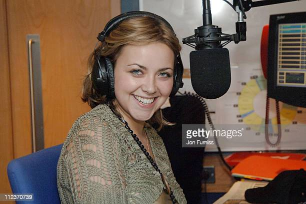 Charlotte Church during Charlotte Church Visits Richard Bacon's 'Go Home Show' On 958 Capital FM in London Great Britain