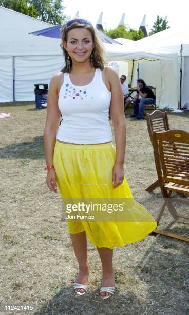 Charlotte Church during Invicta FM's Party In The Park Backstage at The Hop Farm in Kent Great Britain