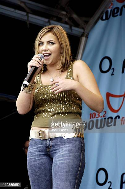 Charlotte Church during Power in The Park Southampton Show June 5 2005 at Southampton Common in Southampton Great Britain