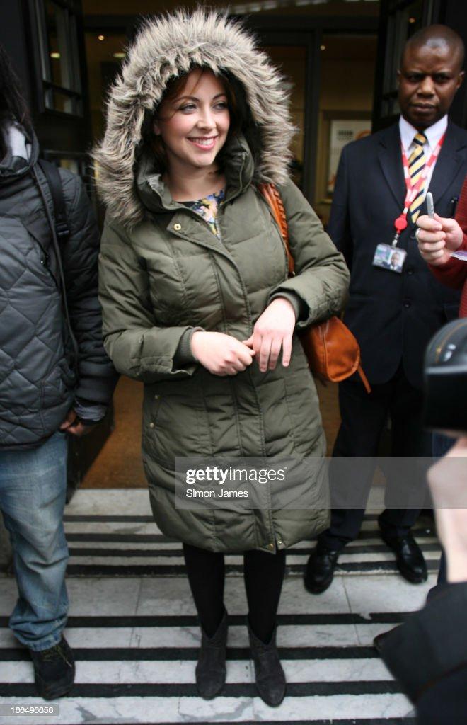 Charlotte Church sighting at BBC Radio 2 studios on April 13, 2013 in London, England.