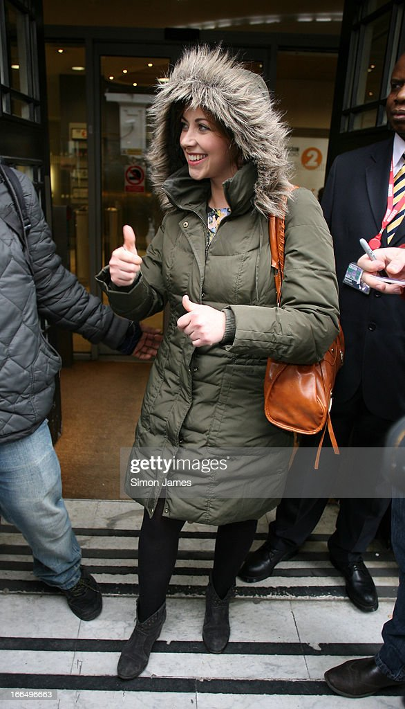 <a gi-track='captionPersonalityLinkClicked' href=/galleries/search?phrase=Charlotte+Church&family=editorial&specificpeople=203217 ng-click='$event.stopPropagation()'>Charlotte Church</a> sighting at BBC Radio 2 studios on April 13, 2013 in London, England.