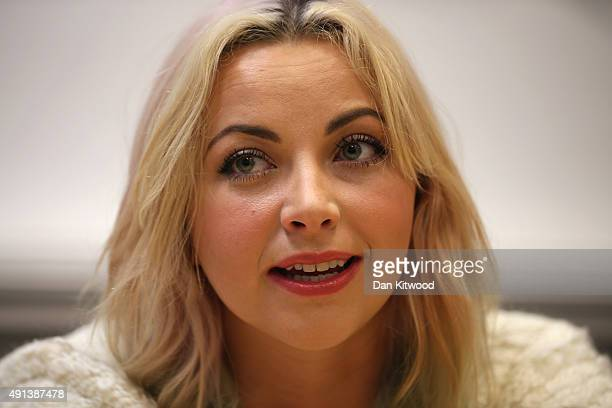 Charlotte Church speaks during a 'Here's Your Opposition' press conference at 'The Friends Meeting House' on October 5 2015 in Manchester England...