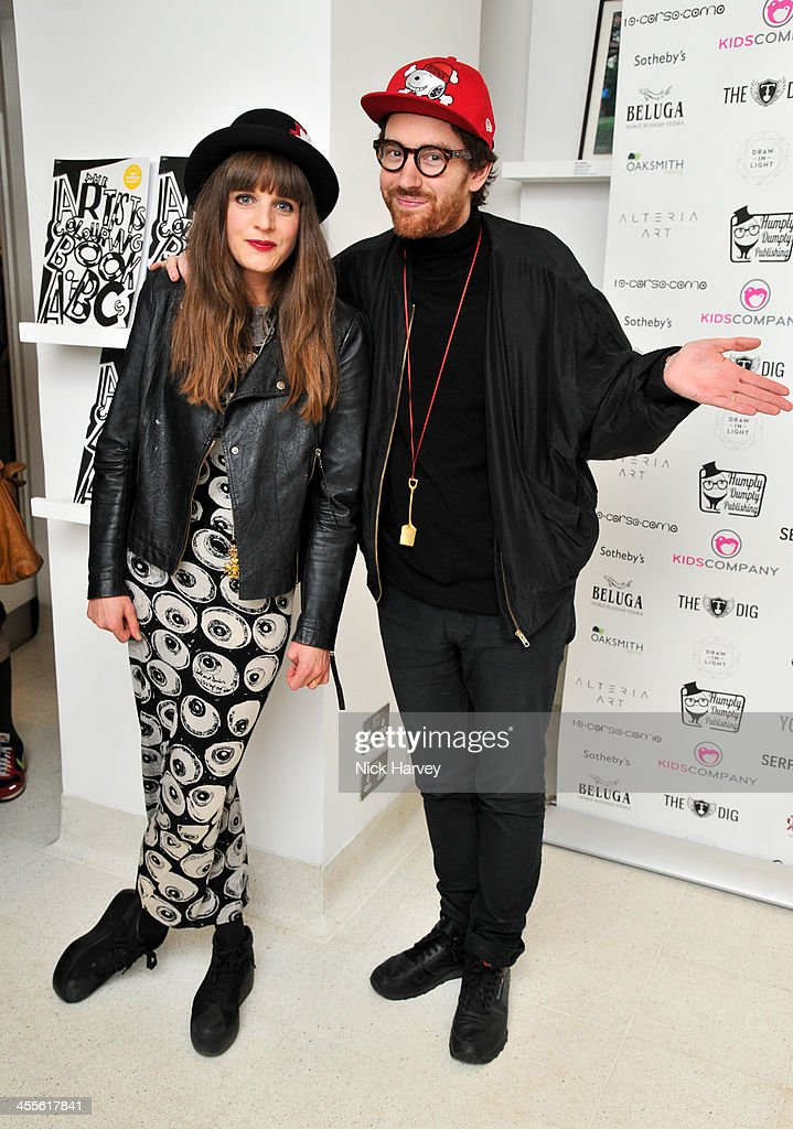Charlotte Colbert and Philip Colbert attend 'The Artists' Colouring Book of ABCs' Launch event at The Serpentine Gallery on December 12, 2013 in London, England.