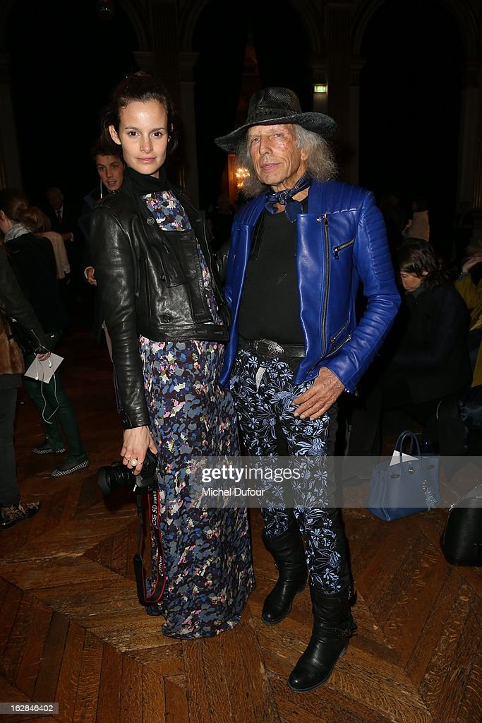 Charlotte Collard and James Goldstein attend the Balmain Fall/Winter 2013 Ready-to-Wear show as part of Paris Fashion Week on February 28, 2013 in Paris, France.