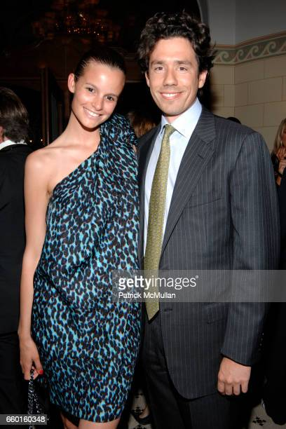 Charlotte Collard and Victor Badin attend GALERIE GMURZYNSKA Dinner in honor of KARL LAGERFELD on The Eve of The Vernissage of ART BASEL at Les Trois...