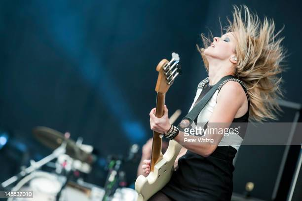 Charlotte Cooper of The Subways performs on stage during the first day of Rock Am Ring on June 01 2012 in Nuerburg Germany