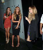 Charlotte Crosby and Lauren Pope attending the Mark Hill launch party at the W hotel on October 6 2015 in London England