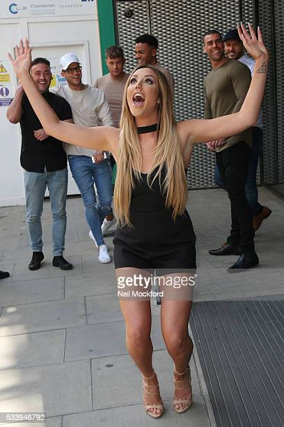 Charlotte Crosby at MTV HQ in Camden to celebrate the Geordie Shore 5th Birthday Party on May 24 2016 in London England