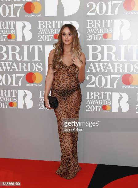 Charlotte Crosby attends The BRIT Awards 2017 at The O2 Arena on February 22 2017 in London England