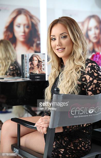 Charlotte Crosby attends the launch of the Charlotte Crosby range for Easilocks at St Martins Lane Hotel on July 20 2016 in London England