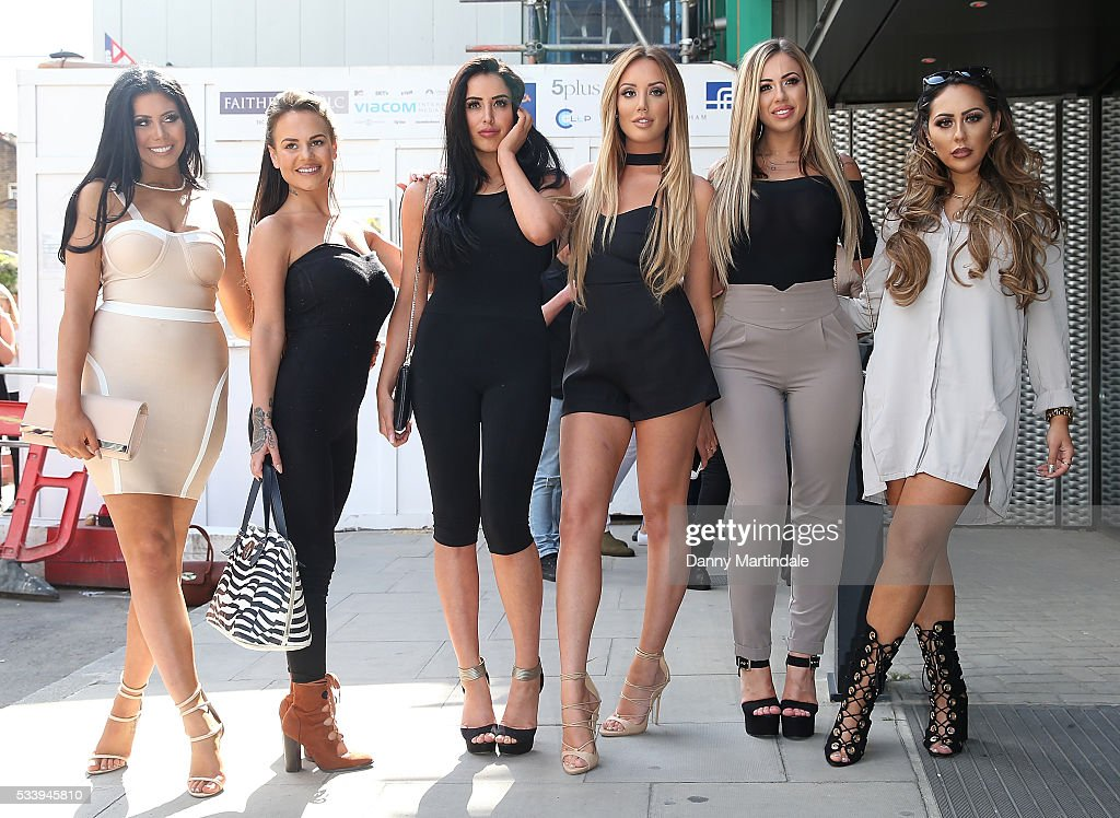 <a gi-track='captionPersonalityLinkClicked' href=/galleries/search?phrase=Charlotte+Crosby&family=editorial&specificpeople=9197610 ng-click='$event.stopPropagation()'>Charlotte Crosby</a>, <a gi-track='captionPersonalityLinkClicked' href=/galleries/search?phrase=Holly+Hagan&family=editorial&specificpeople=7801727 ng-click='$event.stopPropagation()'>Holly Hagan</a>, Chloe Etherington, Chantelle Connelly, Marnie Simpson and Sophie Kasaei of Geordie Shore arrive to celebrate their fifth birthday at MTV London on May 24, 2016 in London, England.