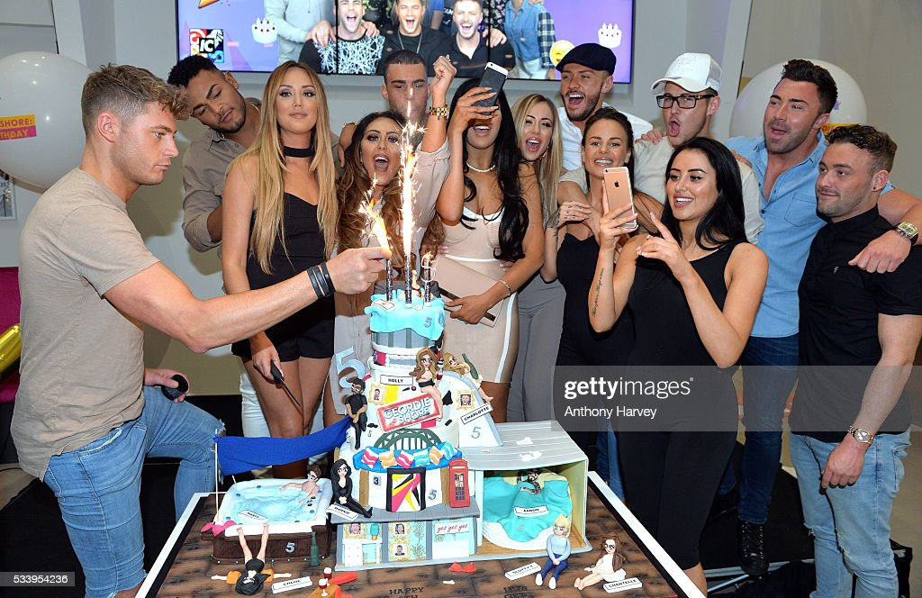<a gi-track='captionPersonalityLinkClicked' href=/galleries/search?phrase=Charlotte+Crosby&family=editorial&specificpeople=9197610 ng-click='$event.stopPropagation()'>Charlotte Crosby</a>, <a gi-track='captionPersonalityLinkClicked' href=/galleries/search?phrase=Holly+Hagan&family=editorial&specificpeople=7801727 ng-click='$event.stopPropagation()'>Holly Hagan</a>, Chloe Etherington, Chantelle Connelly, Marnie Simpson, Sophie Kasaei, Aaron Chalmers, Nathan Henry, Scott Timlin, Marty McKenna, James Tindale and Dan Thomas-Tuck of tGeordie Shore celebrate their fifth birthday at MTV London on May 24, 2016 in London, England.
