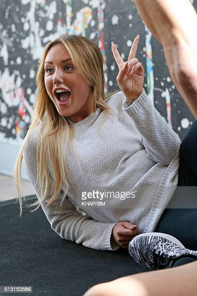 Charlotte Crosby is seen doing promotional work on March 1 2016 in Sydney Australia