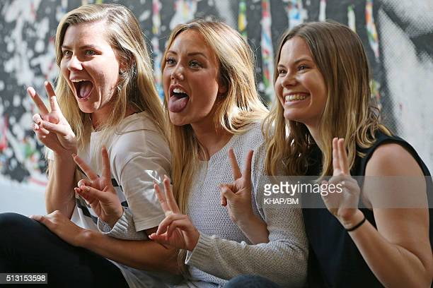 Charlotte Crosby poses with fans on March 1 2016 in Sydney Australia