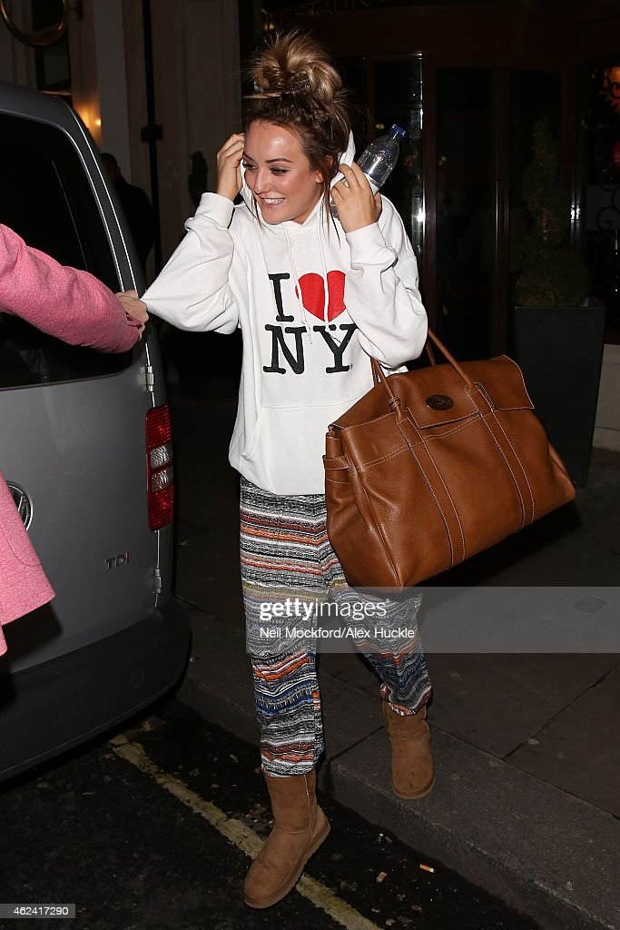 Charlotte Crosby seen leaving The Soho Sanctum Hotel on January 28 2015 in London England