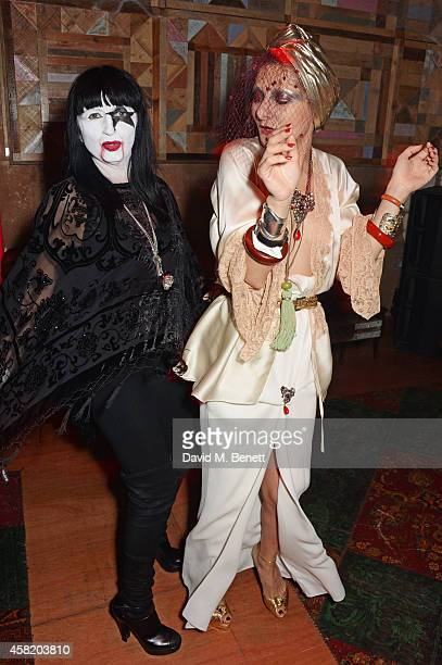 Charlotte Cutler and Catherine Baba attend 'Death Of A Geisha' hosted by Fran Cutler and Cafe KaiZen with Grey Goose on October 31 2014 in London...
