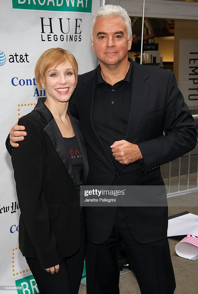 Charlotte d'Amboise and John O'Hurley from the cast of Chicago attends Broadway On Broadway 2010 in Times Square on September 12 2010 in New York City