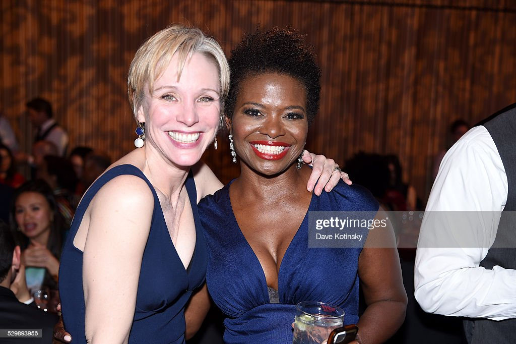 Charlotte d'Amboise and LaChanze attend the Jazz at Lincoln Center 2016 Gala 'Jazz and Broadway' honoring Diana and Joe Dimenna and Ahmad Jamal at...