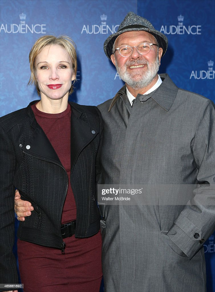 Charlotte D'Amboise and Walter Bobbie attend the Broadway Opening Night Performance of 'The Audience' at The Gerald Schoendeld Theatre on March 8...