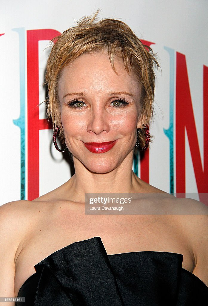 Charlotte d'Amboise attends the after party for the Broadway opening night of 'Pippin' at Slate on April 25 2013 in New York City